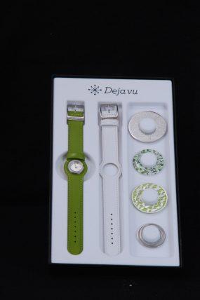 Deja vu horloge groen