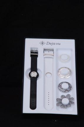 Deja vu horloge zwart/wit (2)
