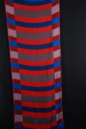 Streepmix shawl