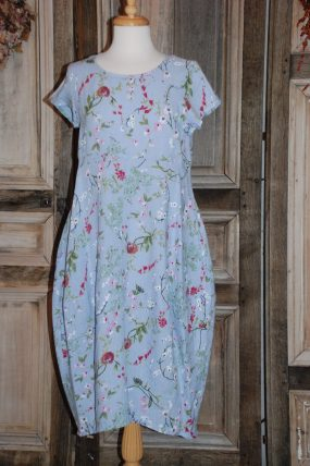 Blueberry Dress with sleeves 9088-45 (blauw)