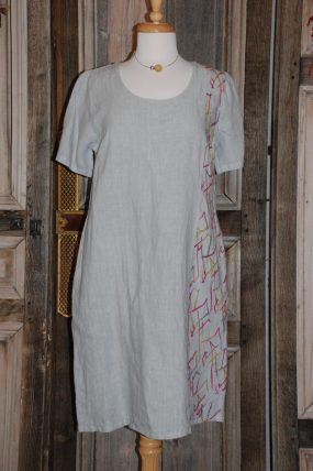 Blueberry Straight dress with sleeves 9010