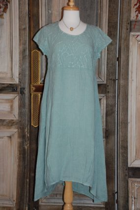 Blueberry Dress with sleeves embroidery 9007