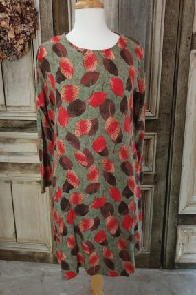 Himalaya dress Pondy leaf print 549550578