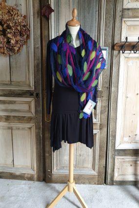Mooi Vilt shawl op zijde gevilt