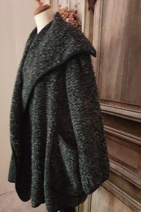 Mara Gibucci 19-77 coat donkergrijs en blauw