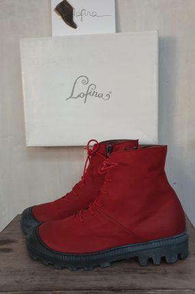 Lofina schoenen type: Pellame / rood