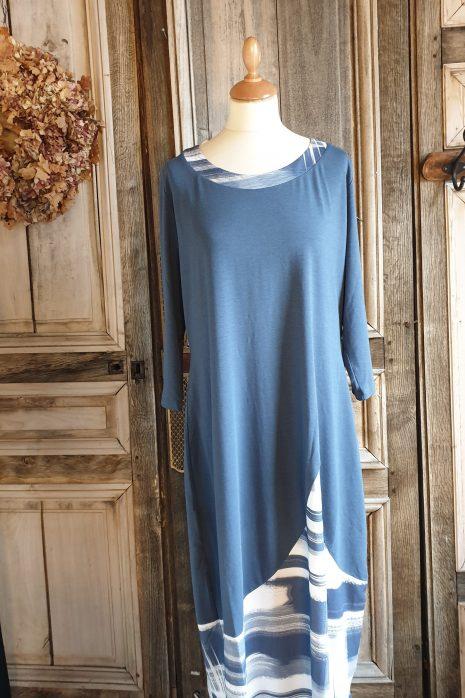 Denim dress Jersey/print 3264