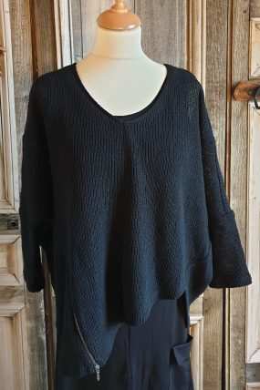 Elsewhere black Pullover G-Moter 3258
