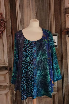 Normal Crazy blouse New Moza lange mouw