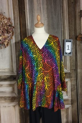 Normal Crazy blouse type ; Big Palm 5 button