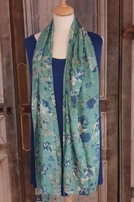 The Blue turban shawls viscose serie 2