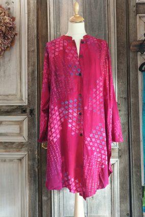 V shirt crincle batik viscose