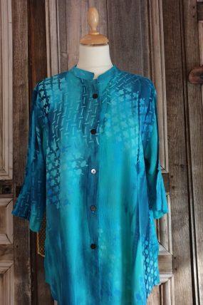 V shirt crincle batik viscose AC 2121T
