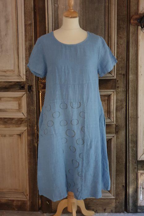 Blueberry jurk 9203-51 azurro