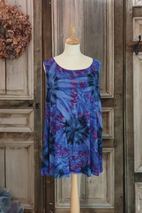 Normal Crazy Top : Aline Batik (80cm) Blauw