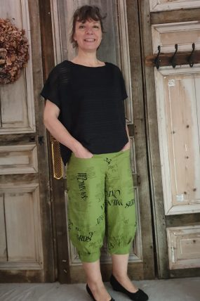 E-ApS Pants black 11903 green