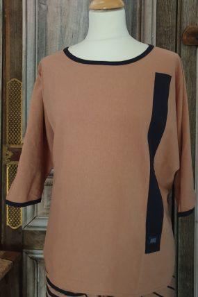 E-Aps  T Blouse  Oversize linen 2 kleuren