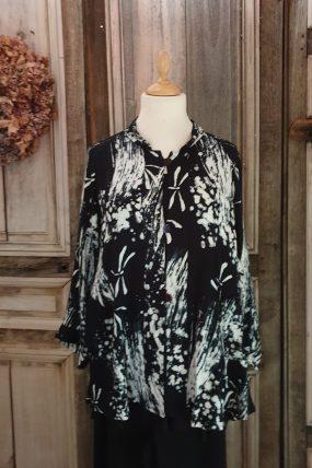 V shirt crincle batik viscose FW 3318 T