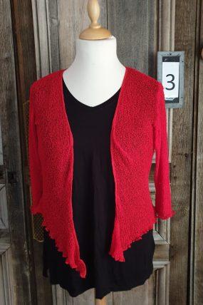 Normal Crazy :Ikat vestjes, basis kleur rood/roze