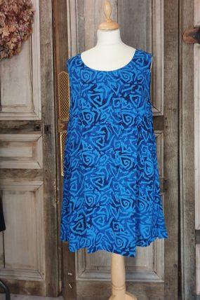Normal crazy dress Aline batik zonder mouwen