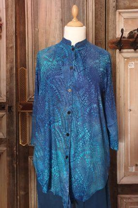 V shirt crincle batik viscose  Kj2099T