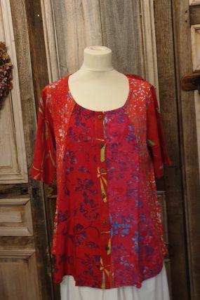 Normal Crazy blouse New Moza s/s (kleuren)