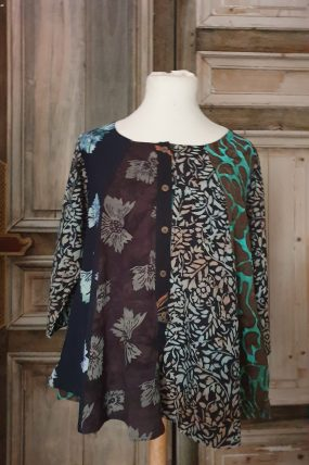 Normal Crazy blouse New Moza  3/4 mouw
