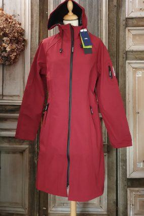 Ilse Jacobsen Long Raincoat Rhubarb RAIN37L.383