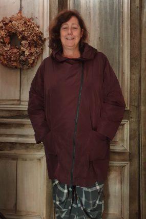 Hopsack winterjas kleur 1-2630